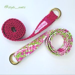 Lilly Pulitzer Woven Belt Duo Size Large